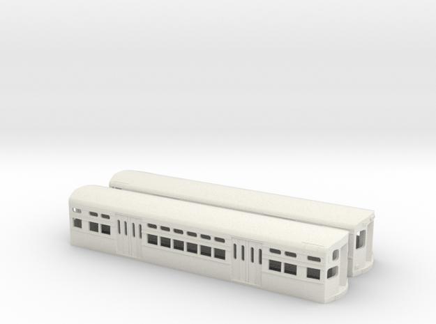 CTA 6000 Series, Modified Flat Door Pair in White Natural Versatile Plastic