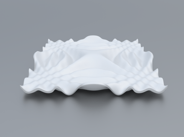 Mathematical Function 9 in White Processed Versatile Plastic