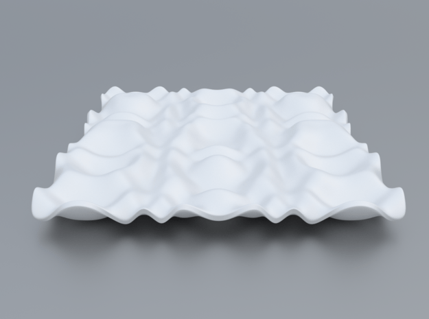 Mathematical Function 10 in White Processed Versatile Plastic