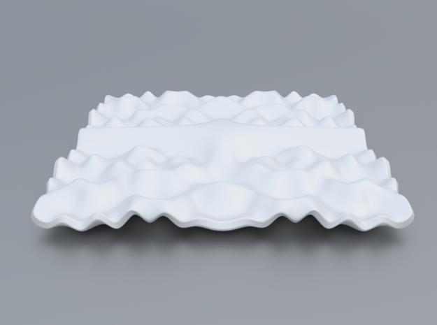 Mathematical Function 11 in White Processed Versatile Plastic