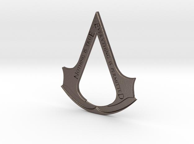 Assassin's creed logo-bottle opener  in Polished Bronzed Silver Steel