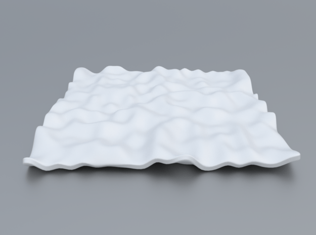 Mathematical Function 14 in White Processed Versatile Plastic