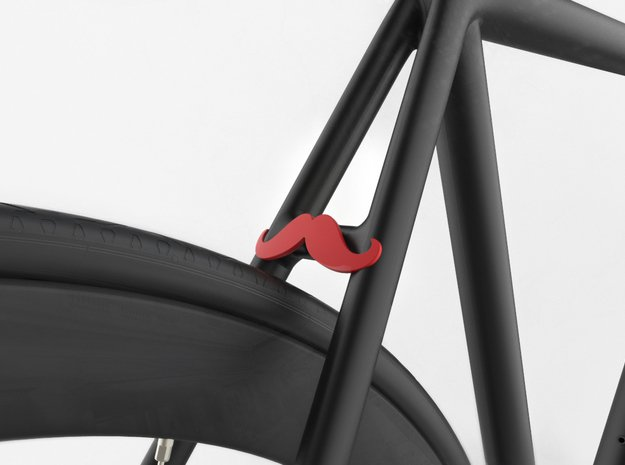 NEW! Moustache NUT, for M6 x1 Screw in Red Processed Versatile Plastic