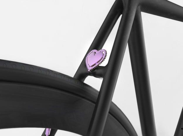 NEW! Fixie Heart NUT, for M6 x1 Screw in Purple Processed Versatile Plastic