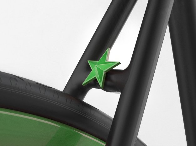 NEW! Star NUT, for M6 x1 Screw in Green Processed Versatile Plastic