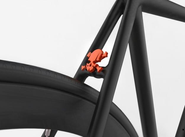 NEW! Skull & Bones NUT, for M6 x1 Screw in Red Processed Versatile Plastic
