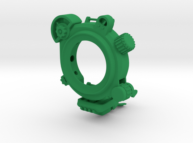 PipWatch -- Moto 360 42mm Version in Green Processed Versatile Plastic