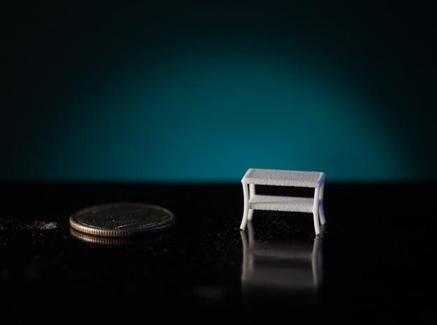1:48 Patio Table in White Natural Versatile Plastic