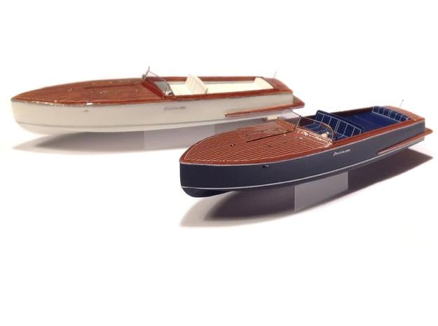 1/87 JULIKA 660 - wooden electro-speedboat in Smooth Fine Detail Plastic