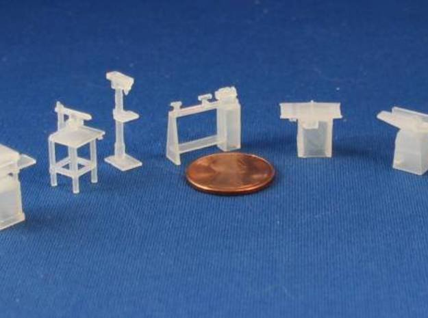 HO SCALE Woodworking Tools in Smooth Fine Detail Plastic