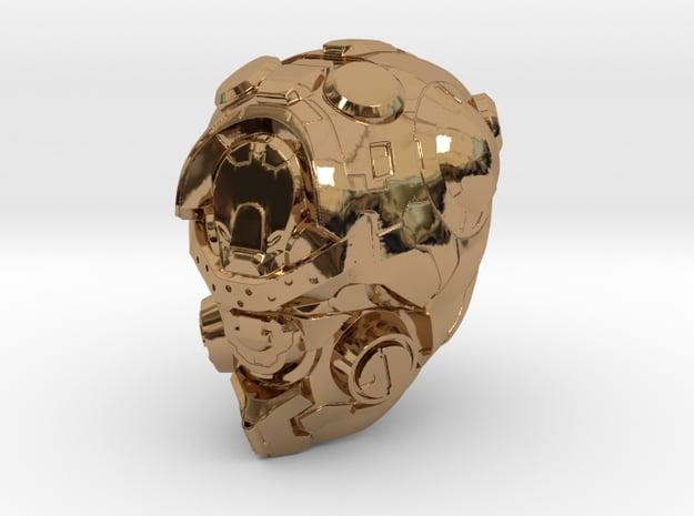 Halo 5 Pioneer 1/6 scale helmet in Polished Brass