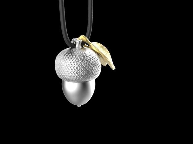 acorn pendant in Natural Brass