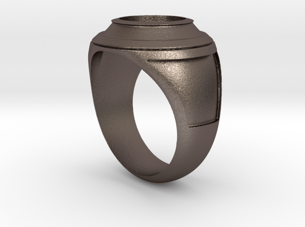 university ring - make it personal - in Polished Bronzed Silver Steel