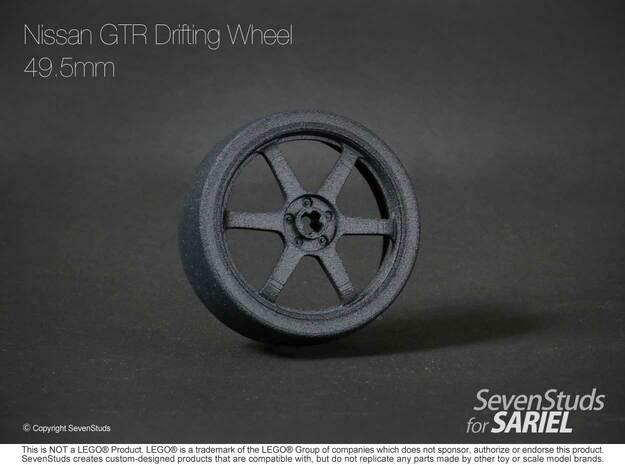 Drifting Wheel 49.5mm in Black Natural Versatile Plastic