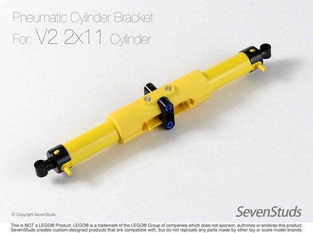 Pneumatic Cylinder Bracket 1/2 (New 2x11L) in Yellow Processed Versatile Plastic