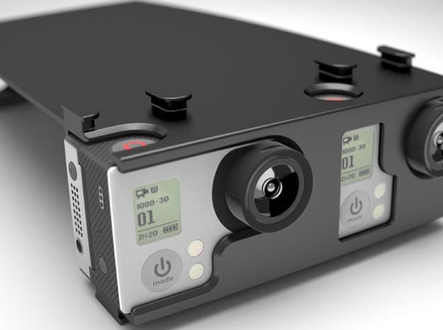 GoPro Hero 3 Stereo Attachment in White Natural Versatile Plastic