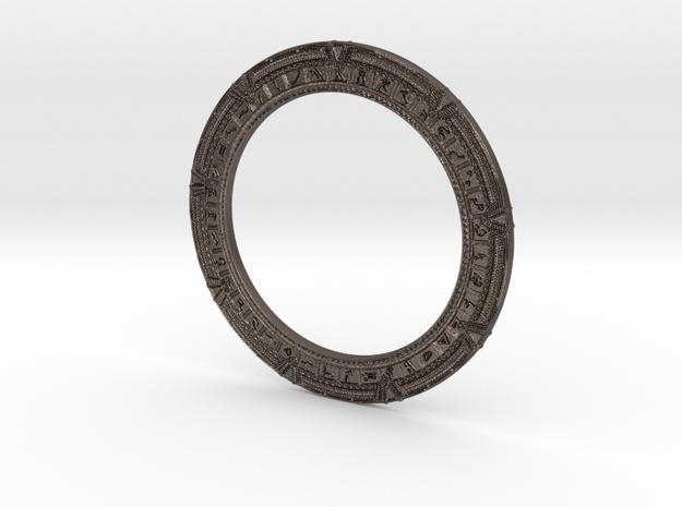 Stargate Keychain in Polished Bronzed Silver Steel