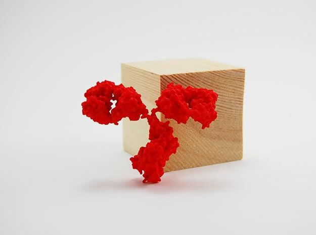 Antibody - IgG - Medium in Red Processed Versatile Plastic