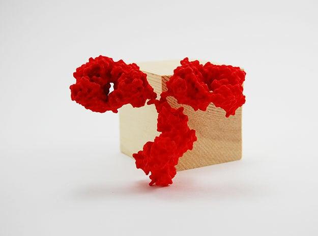 Antibody - IgG - Large in Red Processed Versatile Plastic