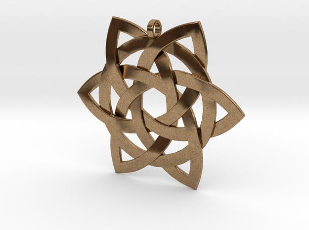 Celtic-star-pendant in Natural Brass