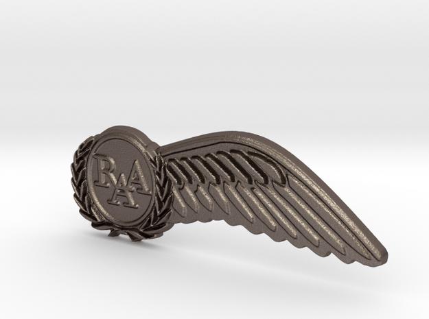 Half-Wings in Polished Bronzed Silver Steel