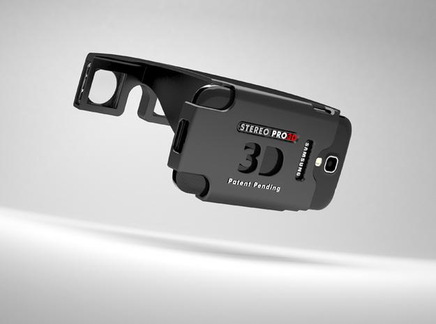 Samsung Galaxy S4 Stereoscopic in White Natural Versatile Plastic