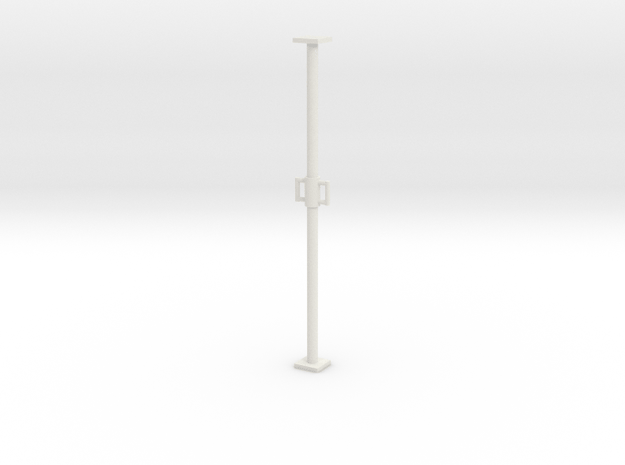 1:50 Long Scaffolding pipe / Construction support in White Natural Versatile Plastic