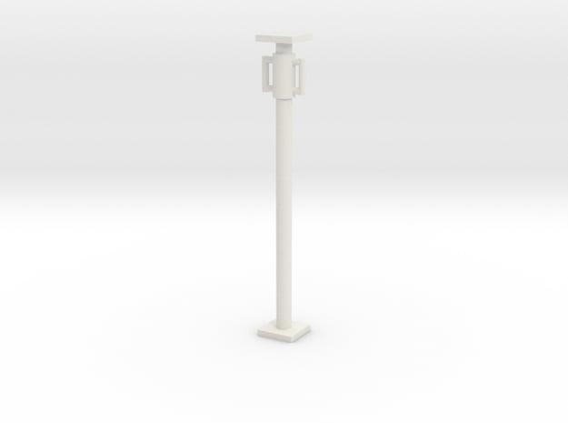 1:50 Short Scaffolding pipe / Concrete support in White Natural Versatile Plastic