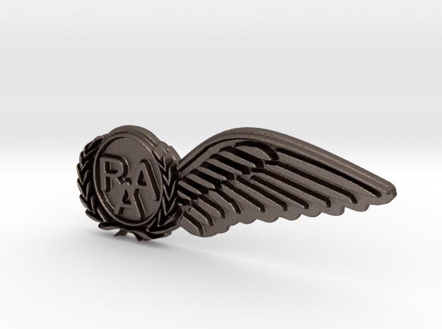 RAA (Recreational Aviation Australia) Half Wing in Polished Bronzed Silver Steel