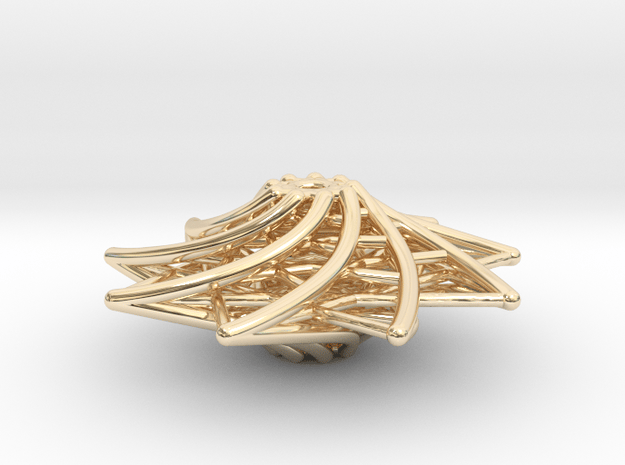 Triangle-spiral 9  in 14K Yellow Gold
