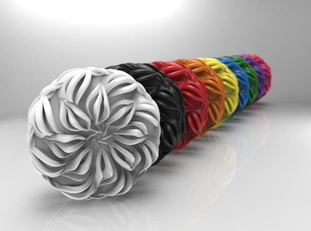 Lotus Mini Yoyo in White Processed Versatile Plastic