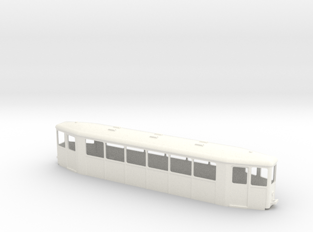 OEG Spitzmausbeiwagen Chassis in White Processed Versatile Plastic
