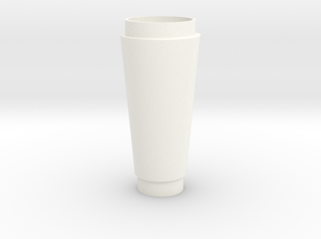 Dark City Syringe (Glass) in White Processed Versatile Plastic