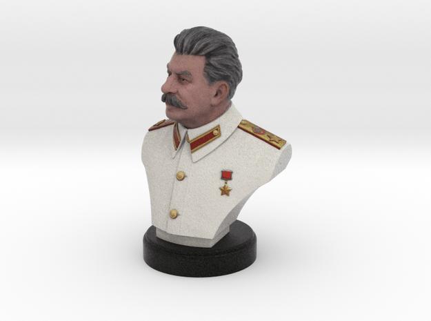 Joseph Stalin Bust 100mm in Full Color Sandstone