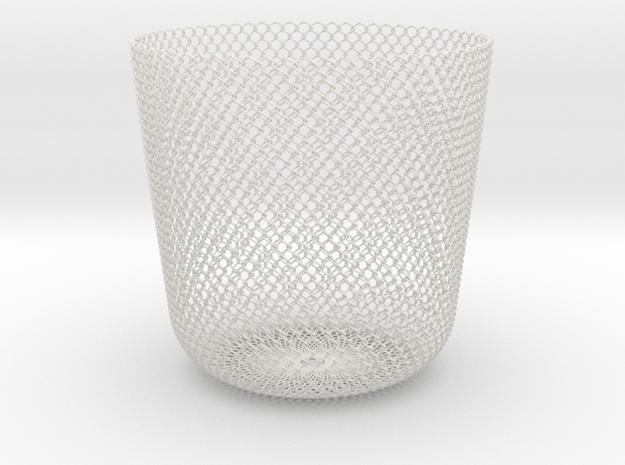 Sine Basket in White Natural Versatile Plastic