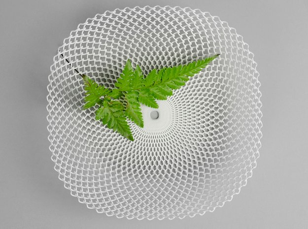 Sine Bowl in White Natural Versatile Plastic