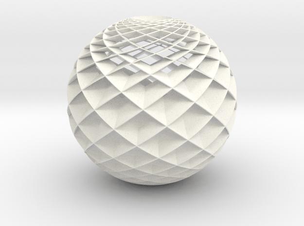 HeliosHelix Lampshade in White Processed Versatile Plastic