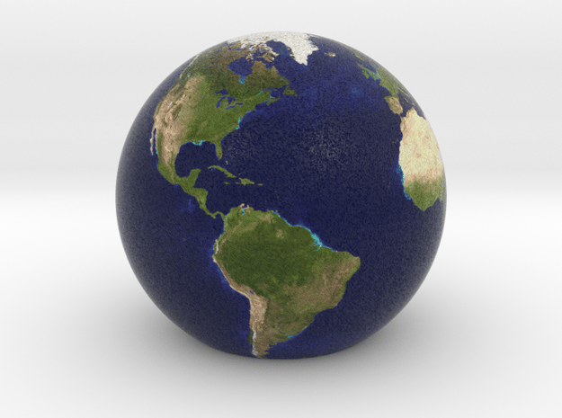 Game Version (has flat bottom) of Earth in Full Color Sandstone