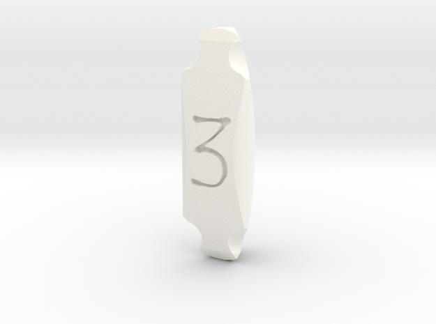 D3 in White Processed Versatile Plastic