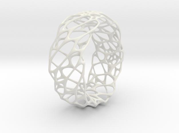 Voro Bracelet No.1 in White Natural Versatile Plastic