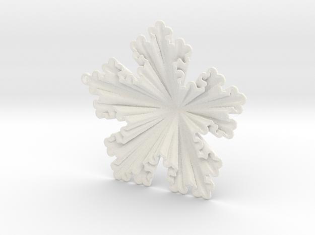 Golden Koch Snowflake Ornament in White Processed Versatile Plastic