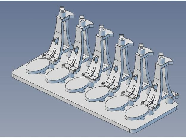 CPR Switchstand S Scale Set of 6 in Smooth Fine Detail Plastic