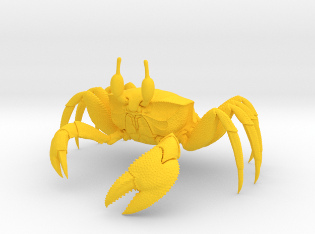 Ghost Crab in Yellow Processed Versatile Plastic