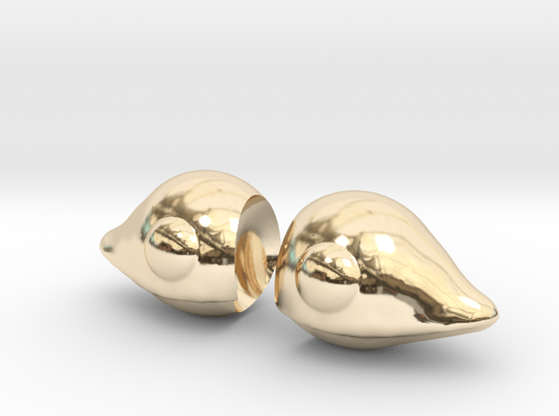 Chobits Ears  in 14K Yellow Gold