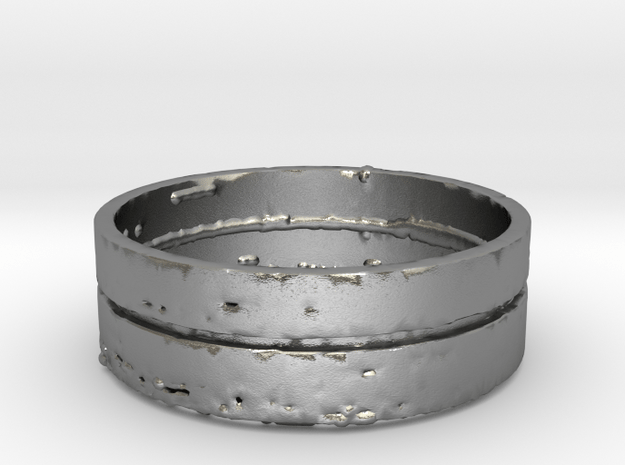 """Splinter"" Mens Ring (Size 10) in Natural Silver"