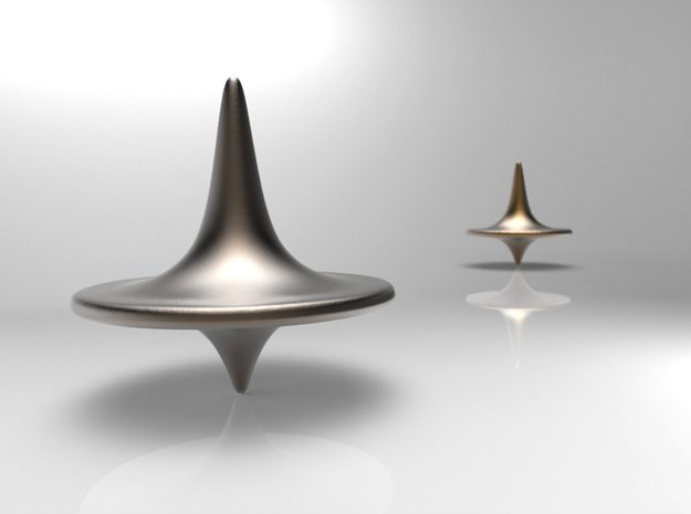 Inception Replica Spinning Top in Polished Bronzed Silver Steel
