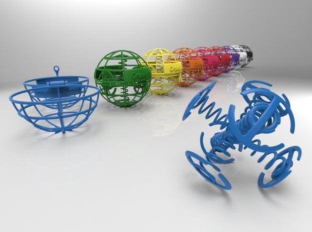 Crawly Ball in Blue Processed Versatile Plastic