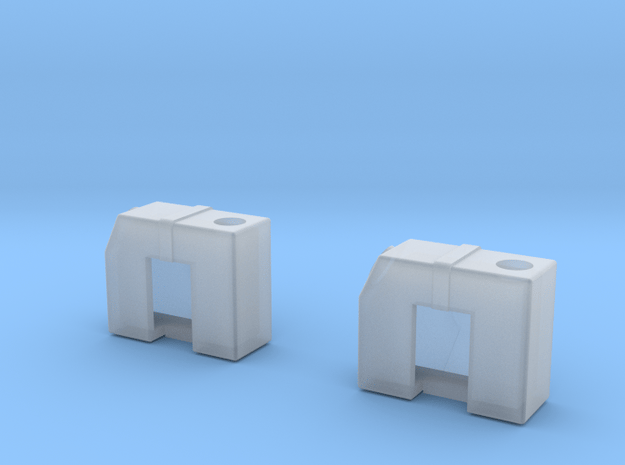 Tyrrell003 Fluid Tanks, 1/20 scale, two pieces in Smooth Fine Detail Plastic