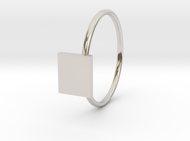 lucy in Rhodium Plated Brass