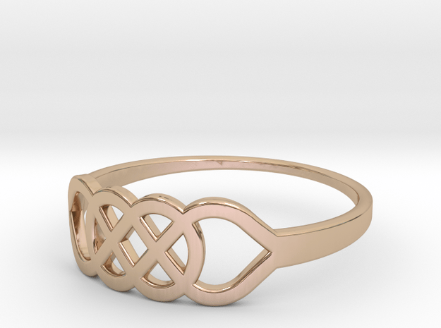 Size 8 Knot C1 in 14k Rose Gold Plated Brass